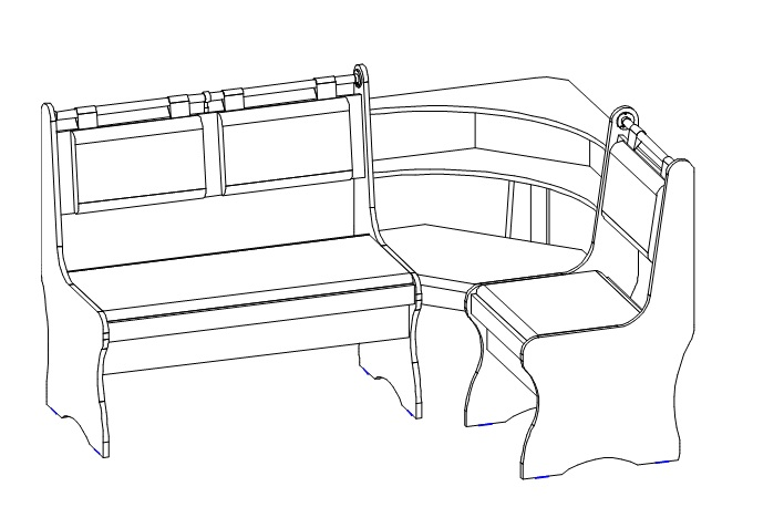 Как сделать угловой кухонный диван своими руками чертежи