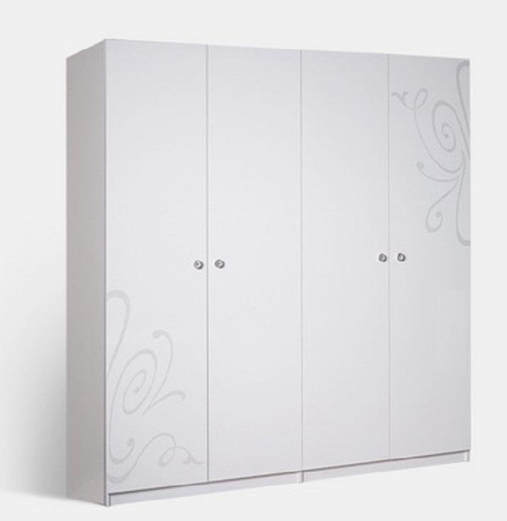 Шкаф 4х ств. европа 9 цвет: белый цена 38040 рублей кибер-ме.